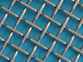 Crimped & flattened woven mesh